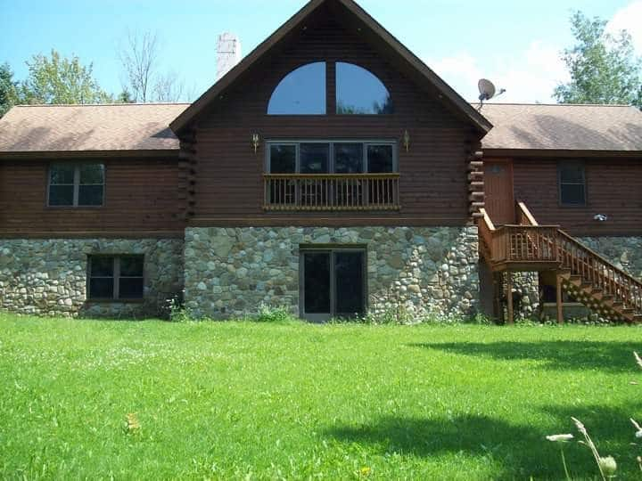 Dansville Large Beautiful Log Cabin Country Home