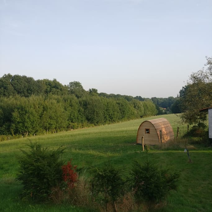 Wooden Eco Pod With Stunning Panoramic View Huttes 224
