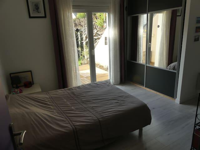Chambre avec sdb et terrasse privatives - Avrillé - Huis