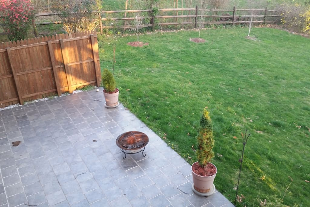 Patio and private back yard.