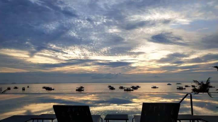 巽寮湾海世界轻奢海景一房一厅(无边泳池 温泉 儿童乐园)