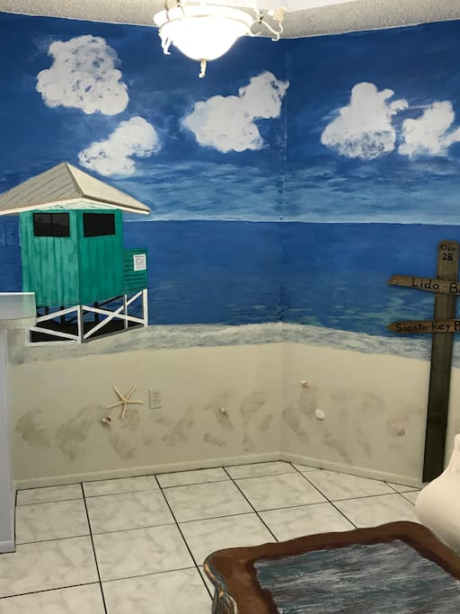 Mural of Siesta Key Beach great for Photos