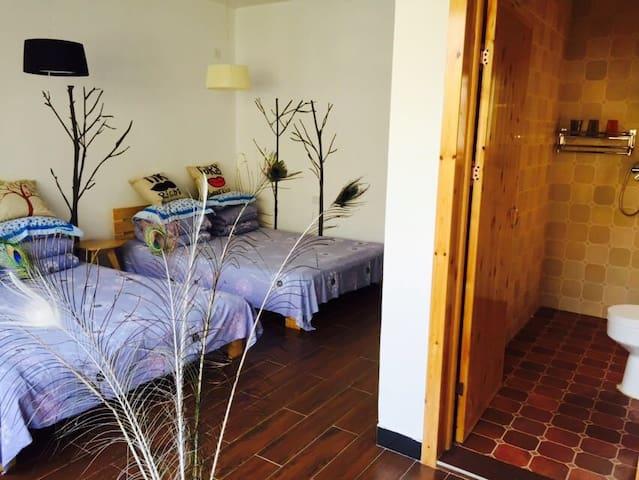 仙水壶山居二号院2号豪华双大床房 - Beijing - Pis