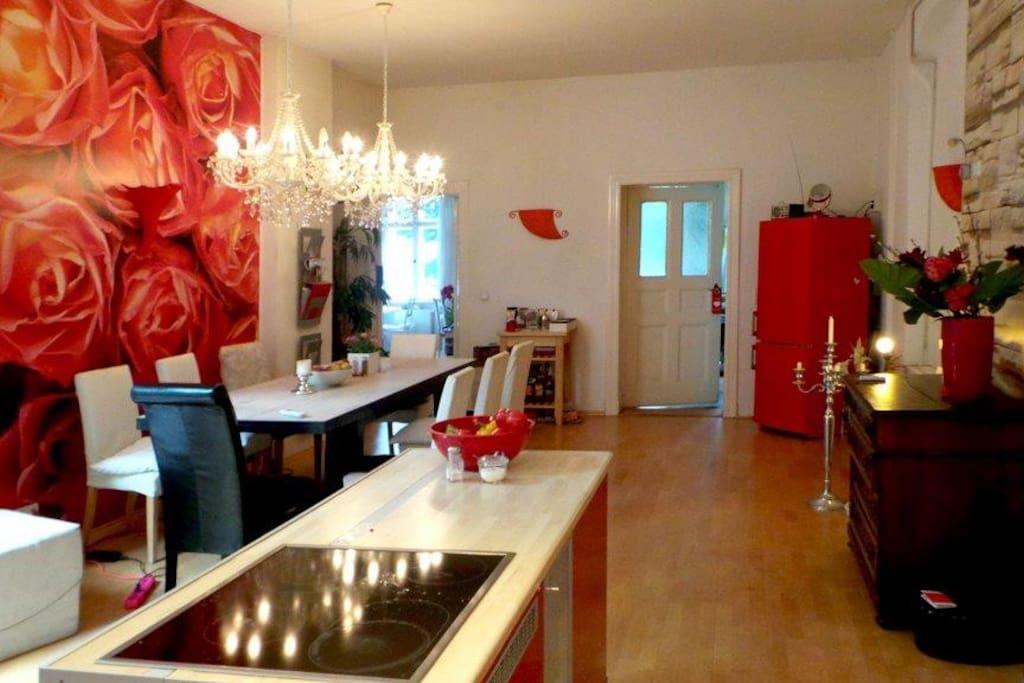 kitchen - view direction your room door