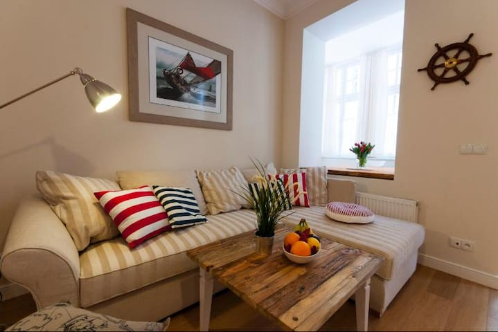 Central 1 bedroom apartment Gdynia Old Town - Gdynia - Apartemen