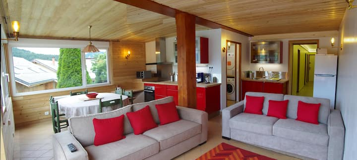 La Croix du Sud formule 2 chambres/salon-cuisine.