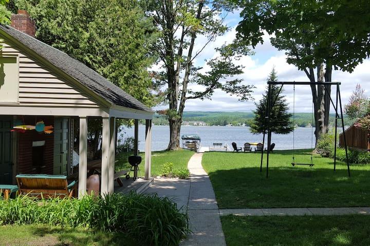 Quaint Three Season Cottage On Crooked Lake.