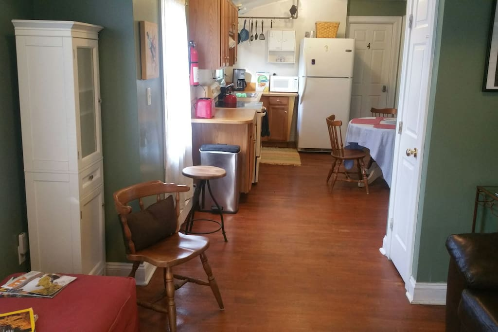 Shared living, dining, kitchen