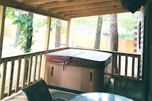 Hot Tub on the Covered Deck.