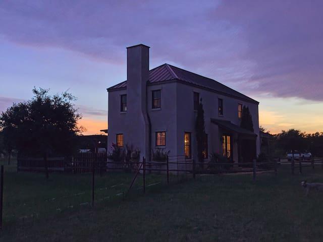 View of the Villa at night