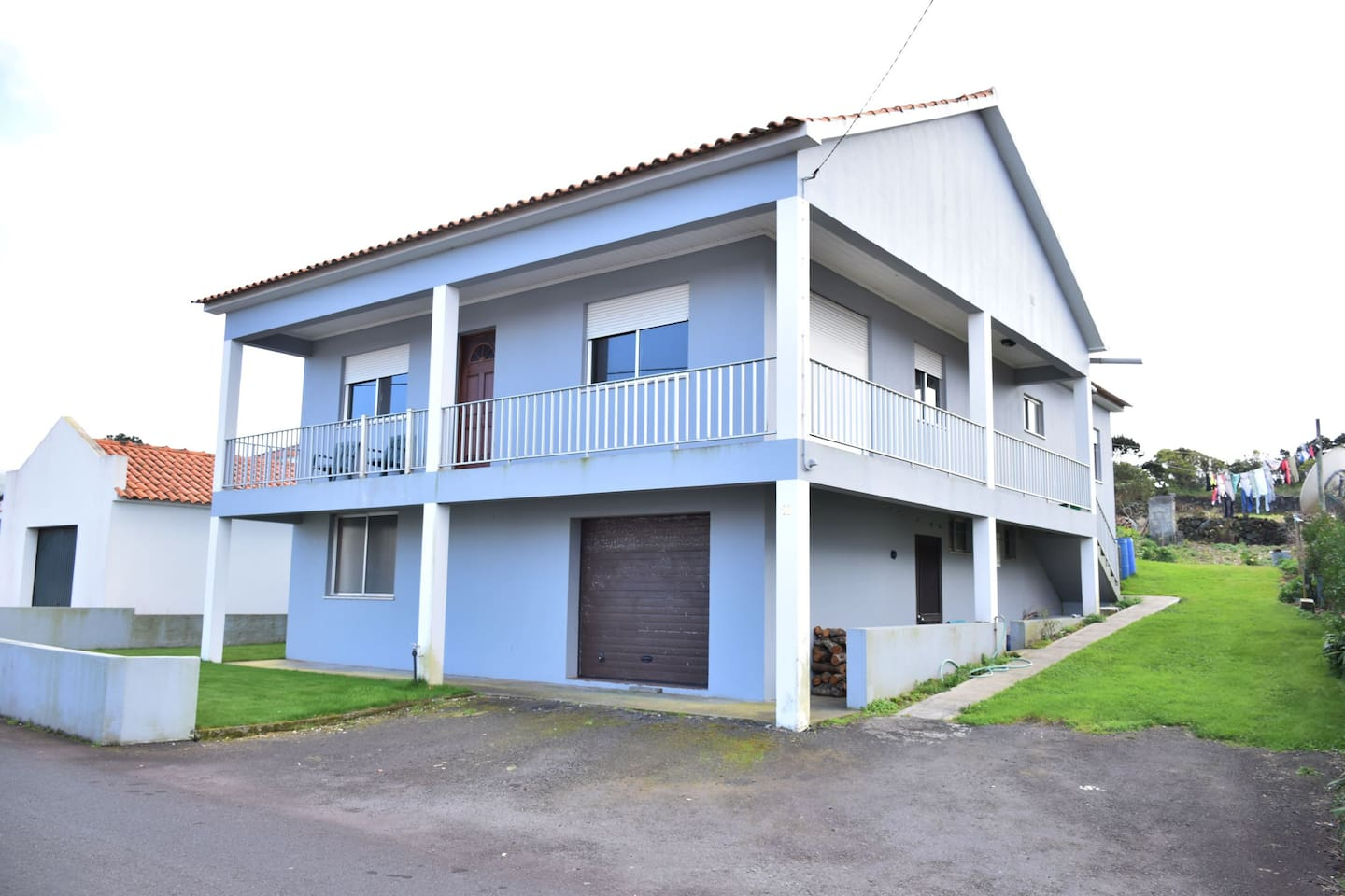 Two story home. Downstairs is hosts apartment. Upstairs is rental apartment.