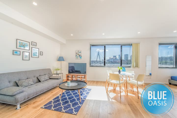 Blue Oasis Sydney CBD Apt with Anzac Bridge View