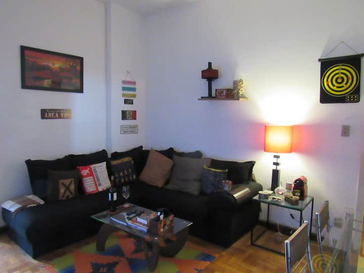 Great double room, 100 mts from the beach!