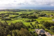 Rolling hills towards Maui and the Ocean