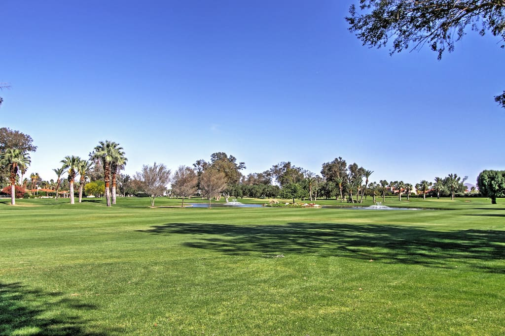 You'll find the golf course is right in your backyard.