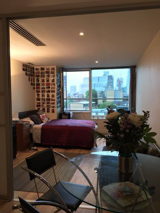 Views of London skyline from Lounge/Bedroom