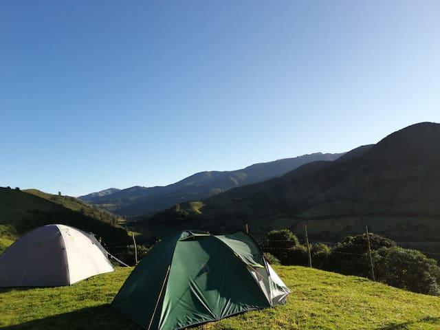 Camping bajo la luz de las estrellas
