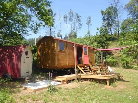 Caravana cigana (Shepherds Hut) Eco e vista para o RIO