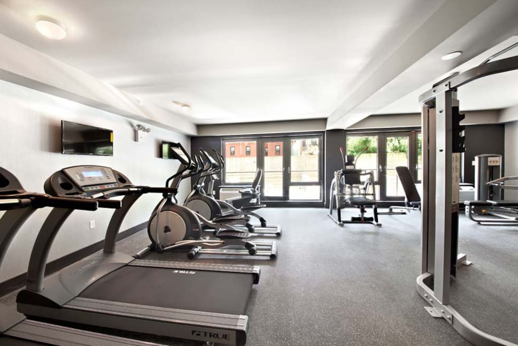 Enjoy working out in  a fully equipped gym