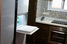 Modern kitchen with Samsung special fridge