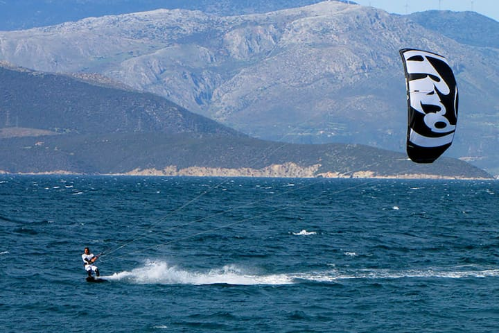 If you feel like kite surfing, Oliva Holiday Homes is the place to be!
