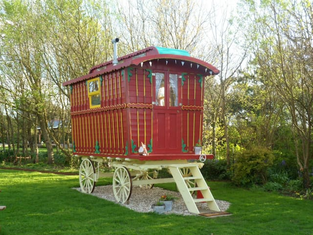 Poppet Gypsy Caravan at wildflower cottage rose