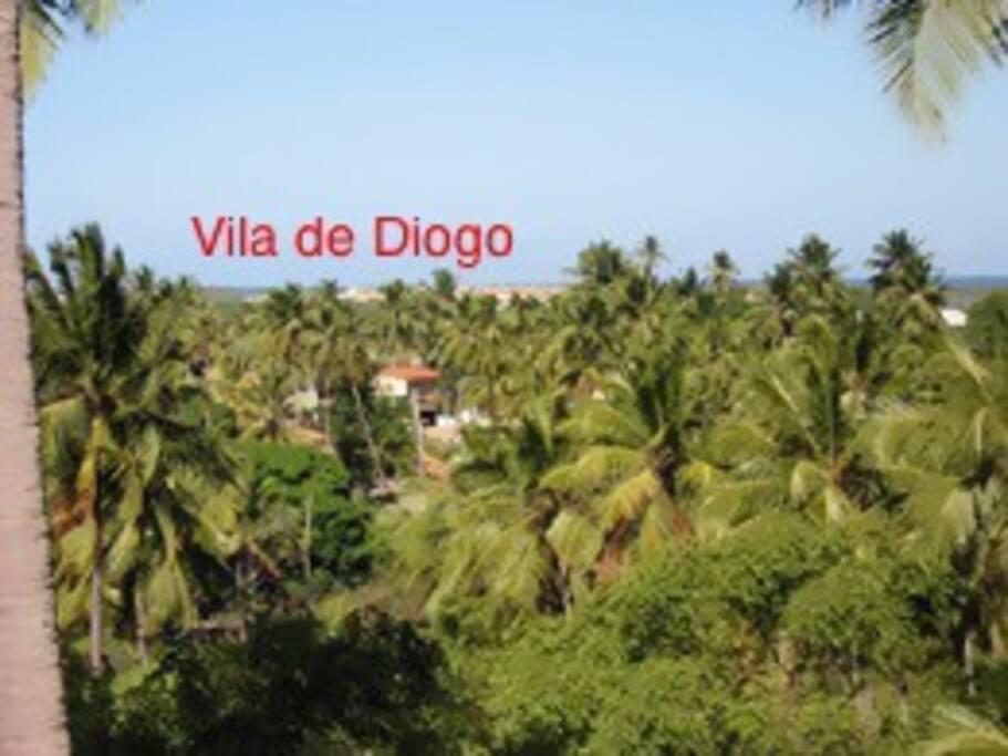 Povoado do Diogo vista da colina