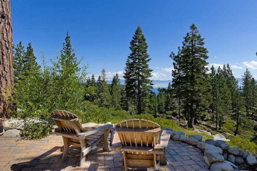 Surrounded by Forest Service Land for Privacy and Lush Lawn Area with Tiered Landscaping
