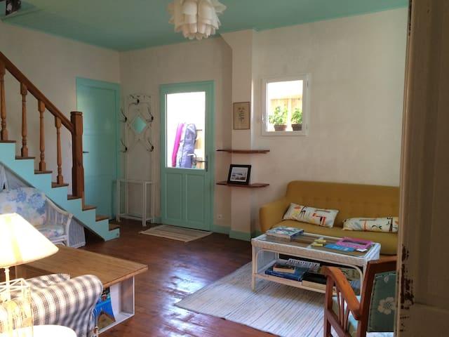 La Villa Tamaris chambre menthe à l'eau 2 lits - Vieux-Boucau-les-Bains