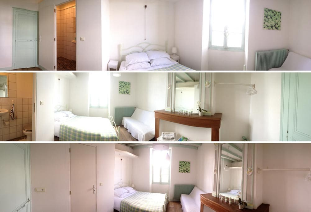 Comfortable room with double bed and shower.