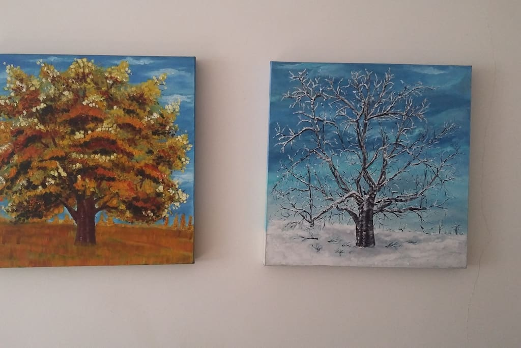 My own paintings, be careful :)