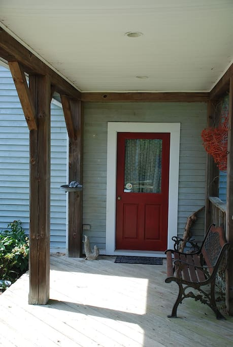 Private entry off breezeway separates apartment from the main house.