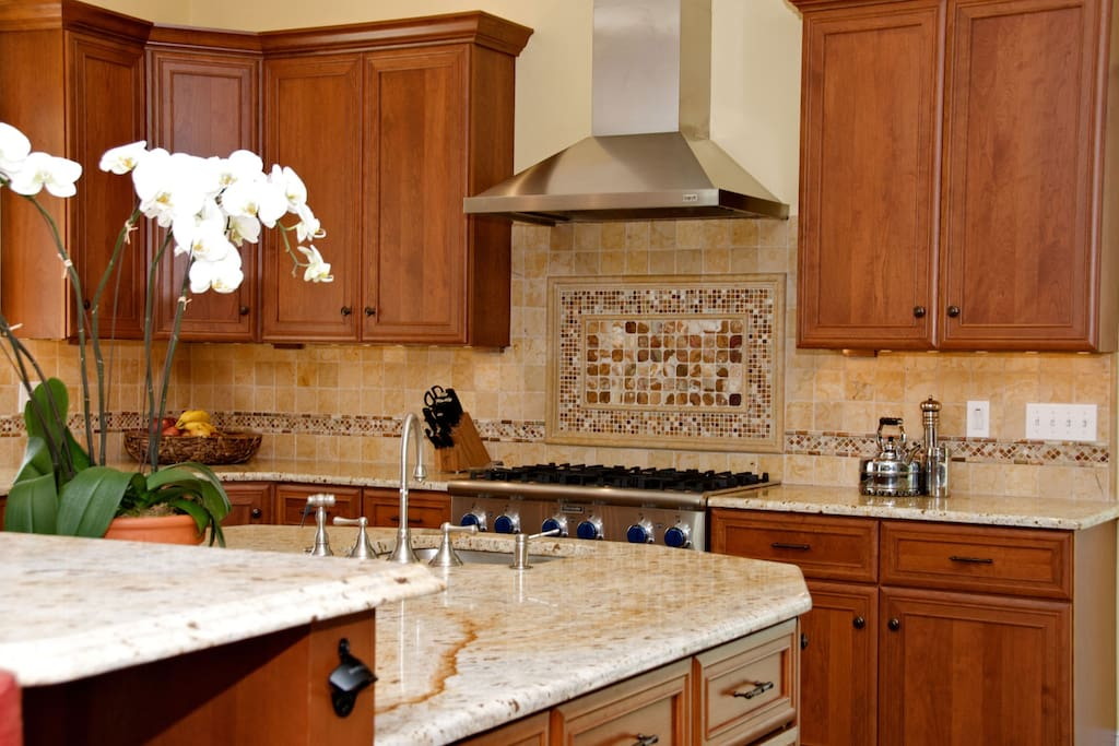Gourmet kitchen for large family gatherings