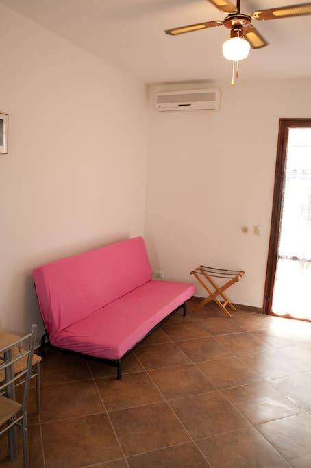 main room double bed sofa