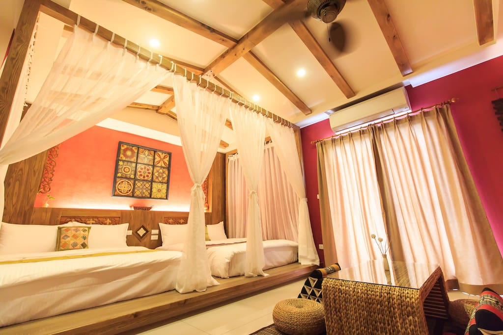 全室日本檜木異國風設計
