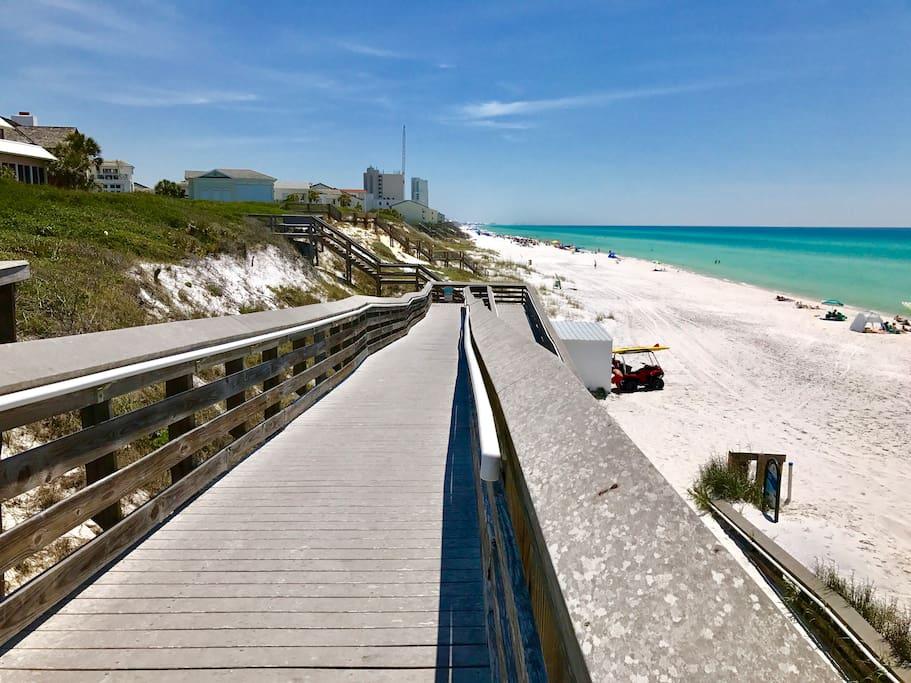 Steps away from public beach access