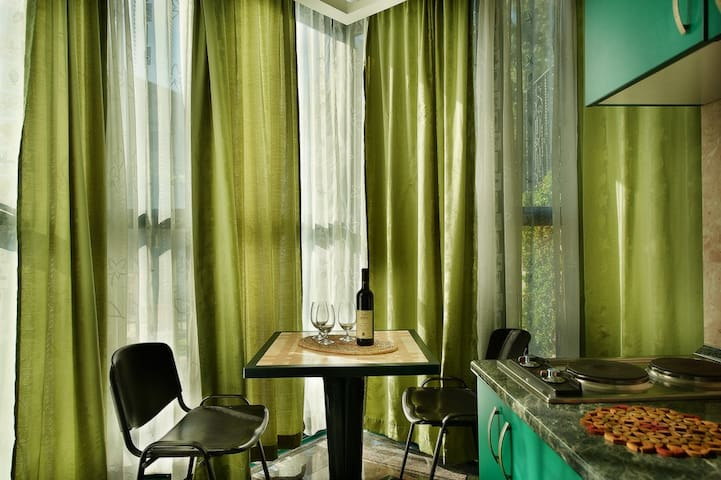 Green Apartment in private villa