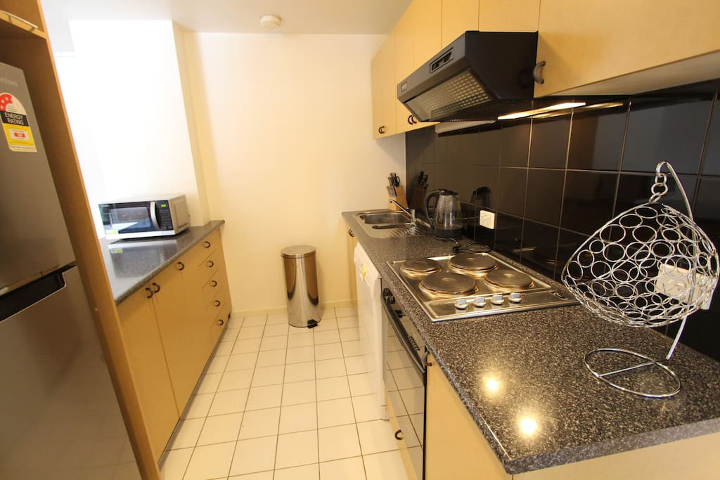 Modern fully equpped kitchen, including all crockery cutlery cooking utensils