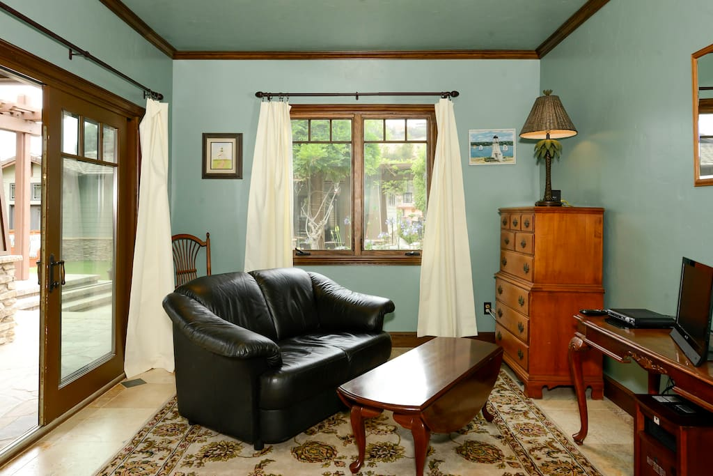 The front room is spacious and comfortable.