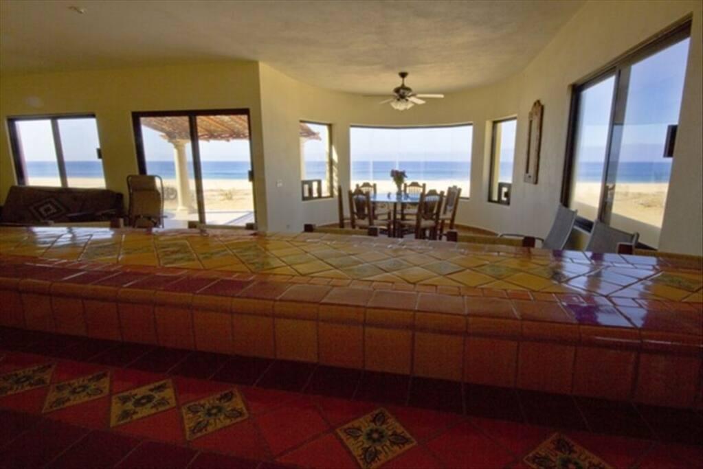 View from ground floor suite kitchen.