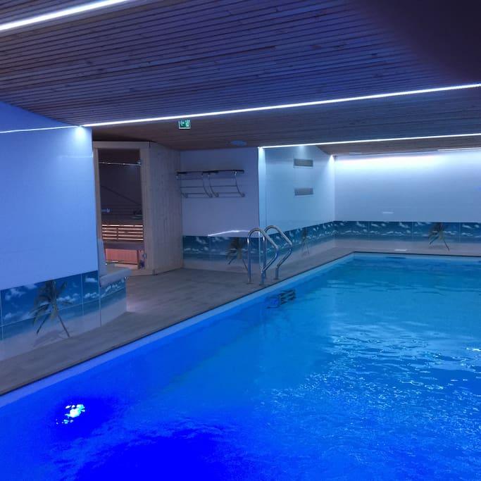 Luxueuse maison avec piscine int rieure 12m sauna guest - Piscine loire sur rhone ...