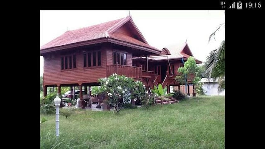 บ้านสวนสุขใจ ริมแม่น้ำท่าจีน