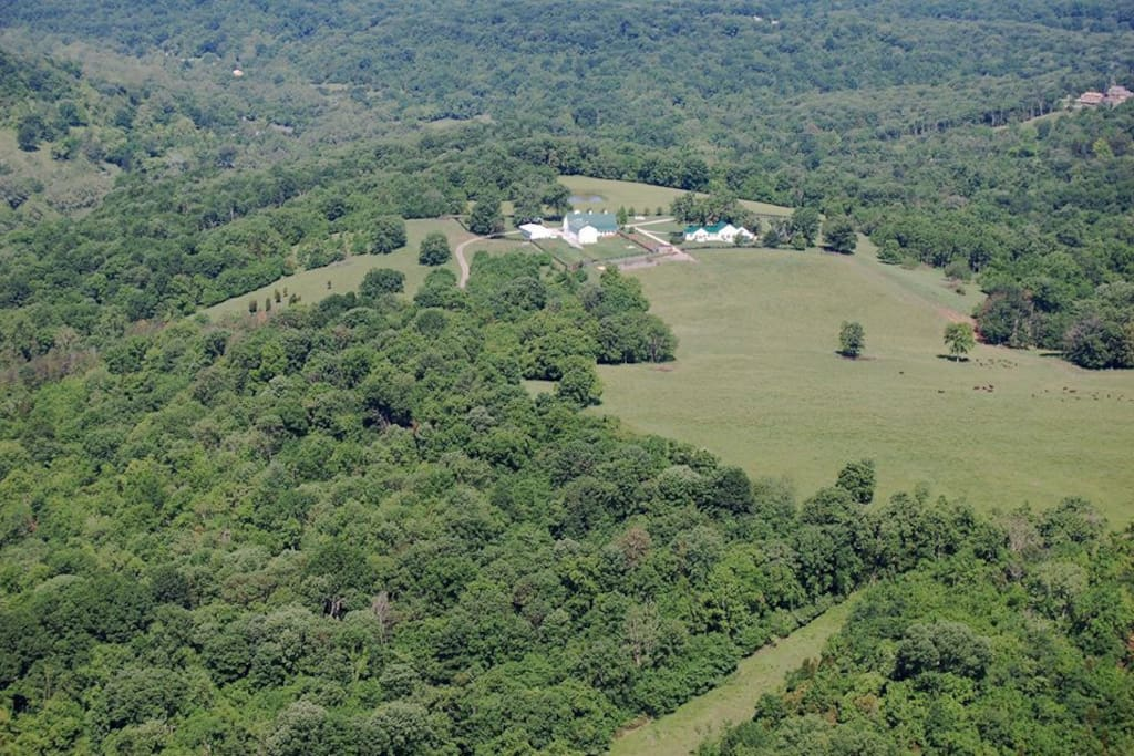 This is an ariel view of our property