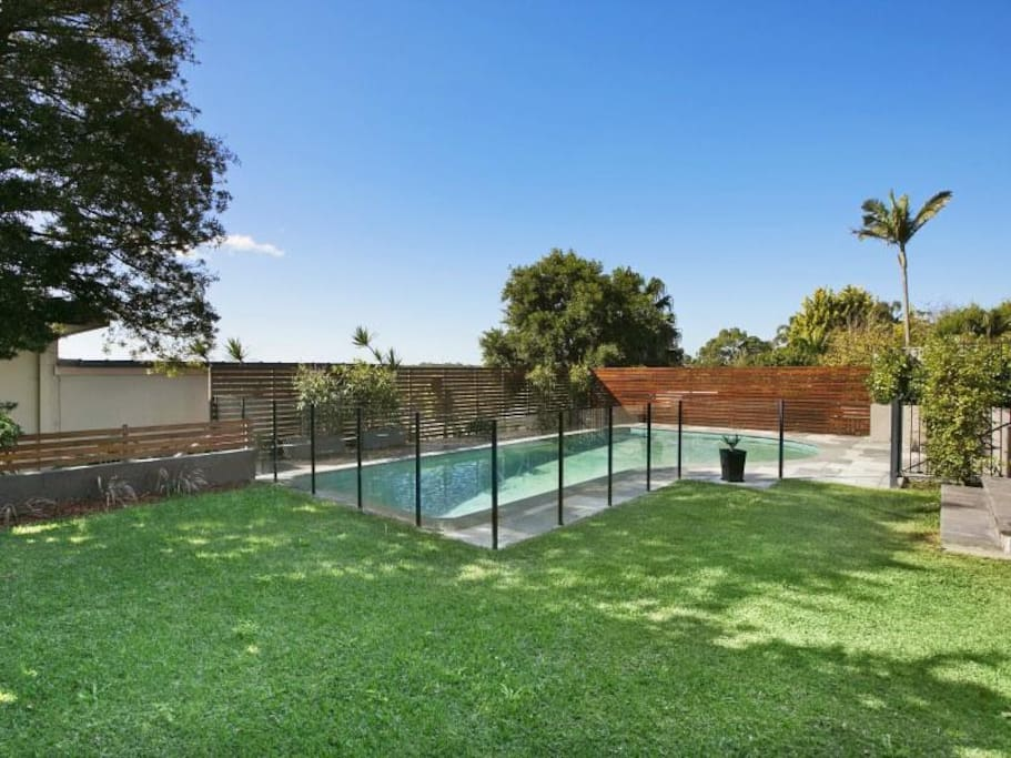 Garden and pool area - 12 metre pool