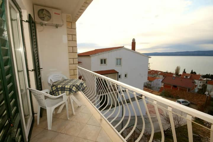 One bedroom apartment with balcony and sea view Duće, Omiš (A-7532-a)
