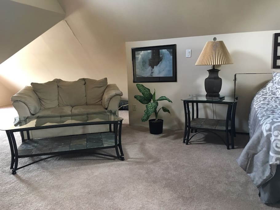With a comfortable living space area as well
