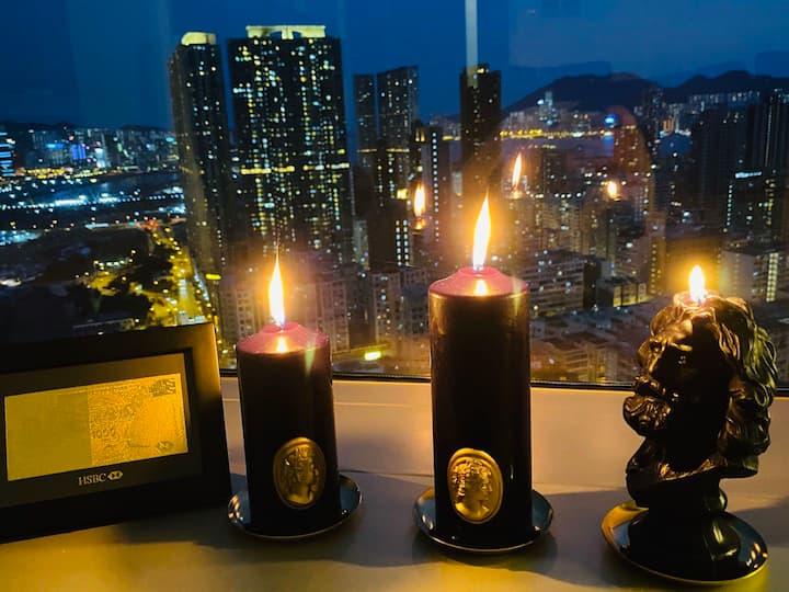 香港市中心國際校網唯一360度全景玻璃上億明星豪宅