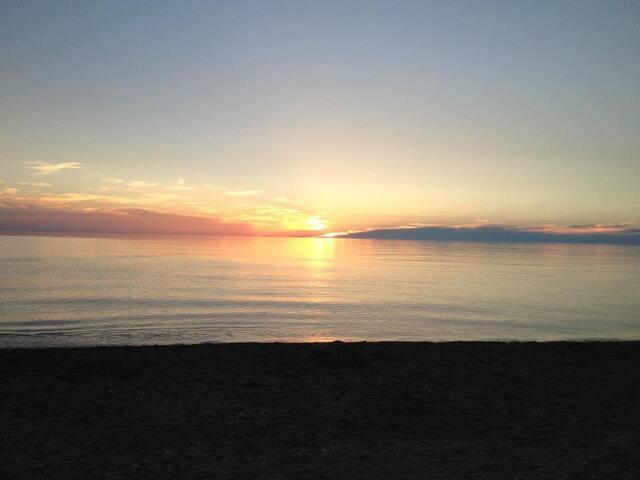 Famous Lake Huron sunsets.