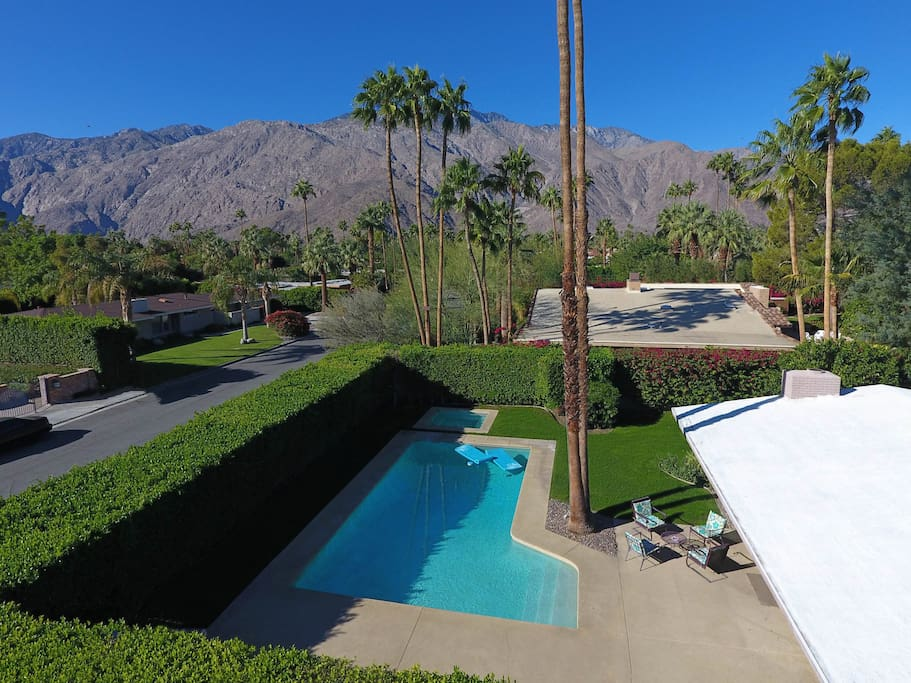 Manicured grounds and wrap around mountain views