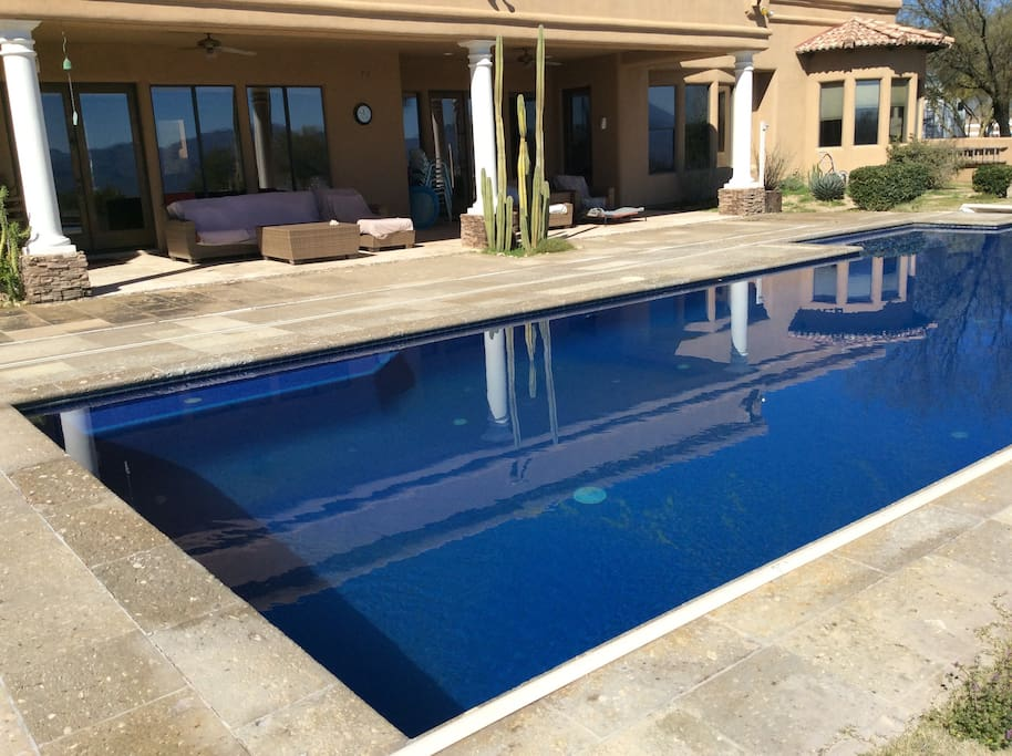 Pool and rear deck